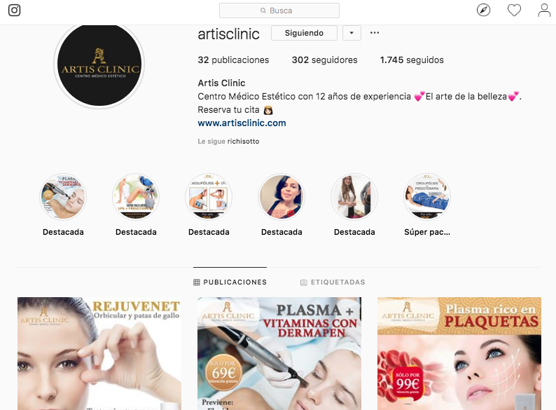Instagram Artis Clinic