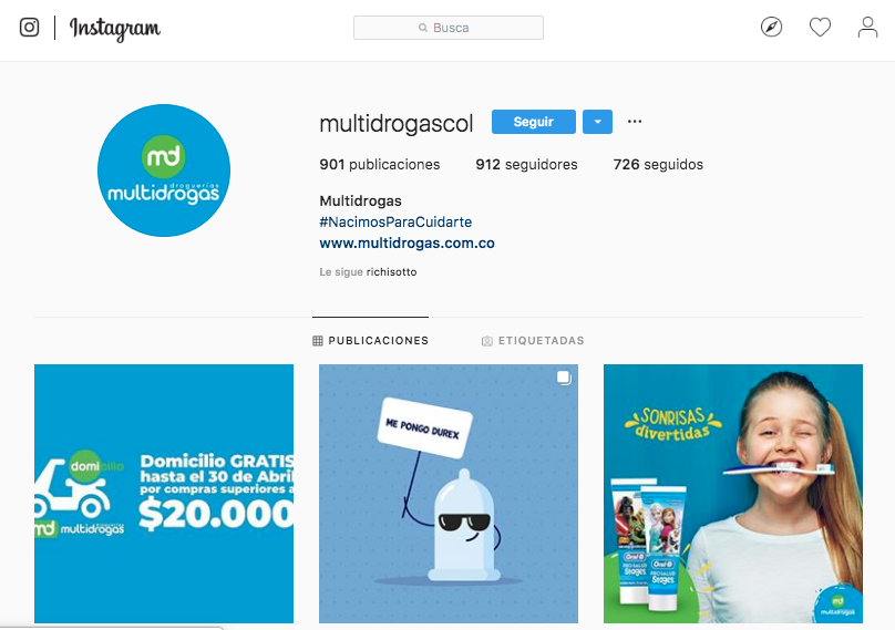 Instagram Multidrogas
